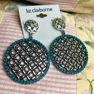 Liz Claiborne🌼 Earrings Silver Tone 2009